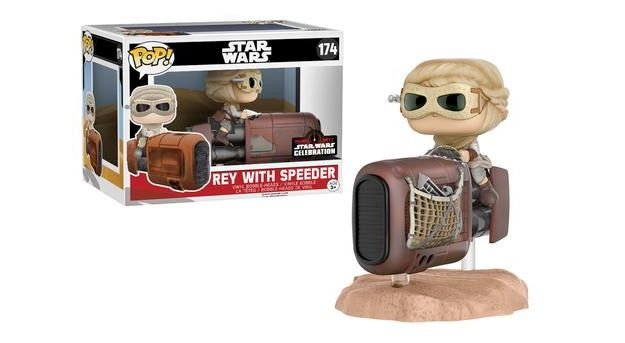 Bonecos Pop Funko Star Wars Celebration 2017 Rey