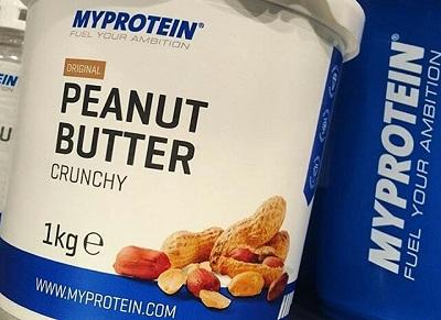 Bote de mantequilla de cacahuete de myprotein