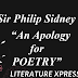 "How does Philip Sidney defend poetry in his ""An Apology for Poetry"" ?"