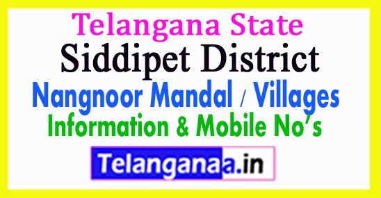 Siddipet District Nangnoor Mandal Village in Telangana State