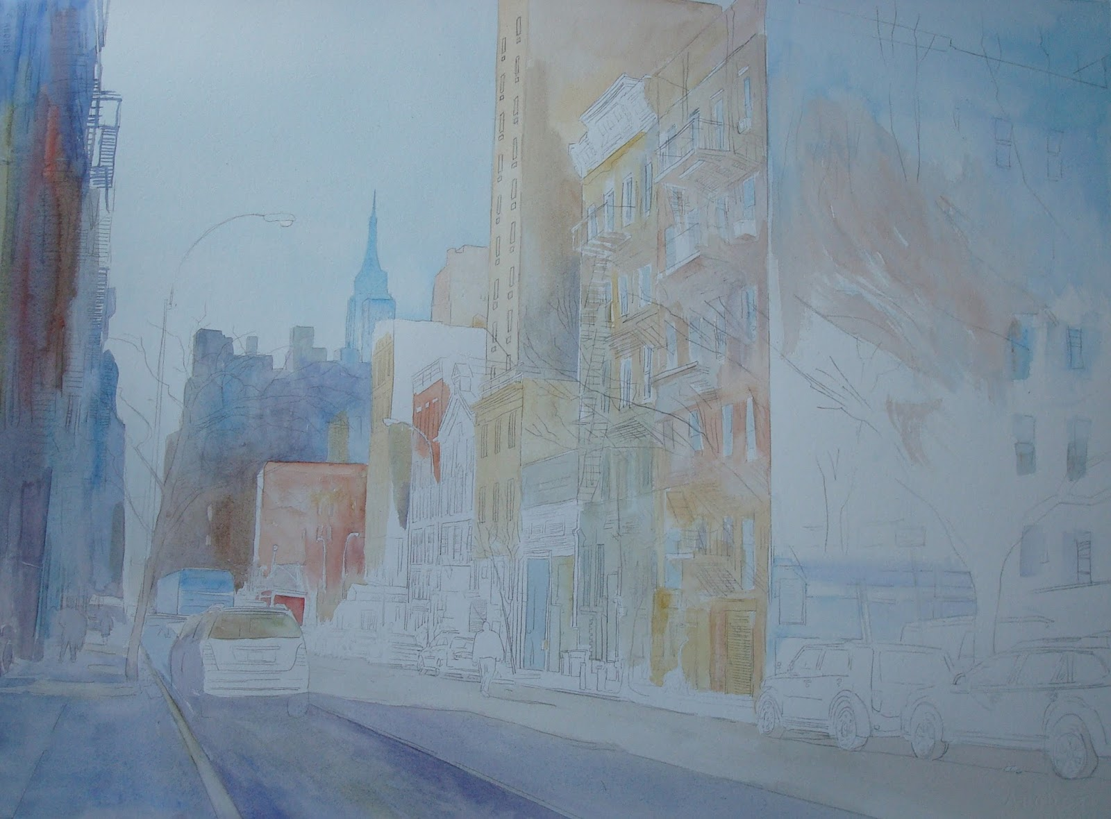 Elise Fine Art: How a Large Detailed Watercolor is Slowly Painted ...
