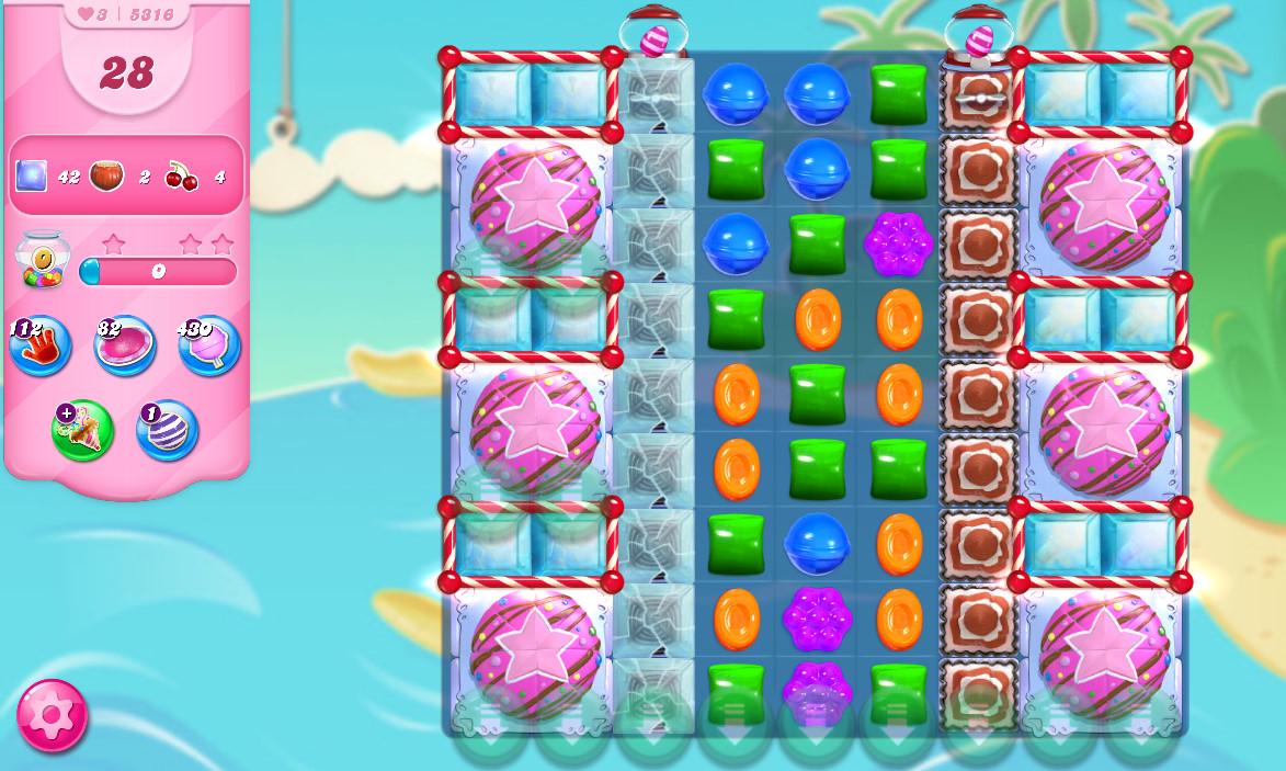 Candy Crush Saga level 5316