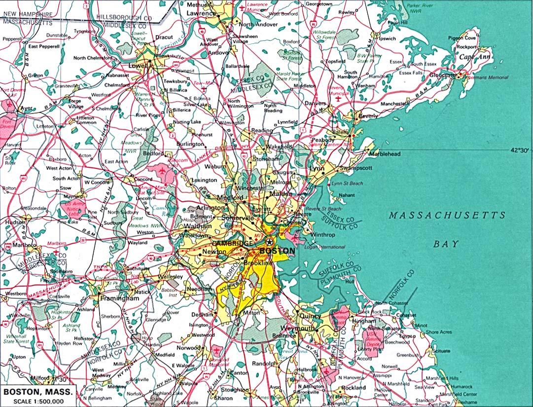 Mapas De Boston Eua Mapasblog
