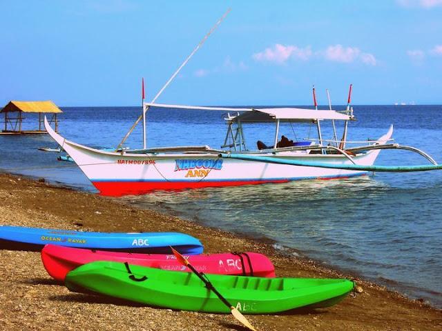 Boats at Anilao Beach Club