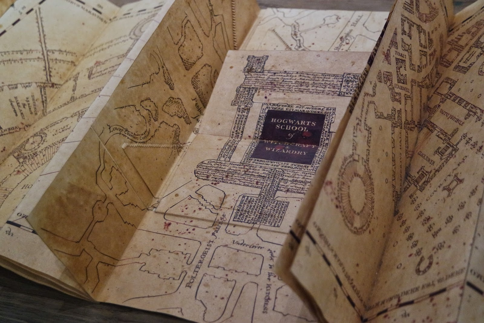 warner brothers studio tour harry potter map