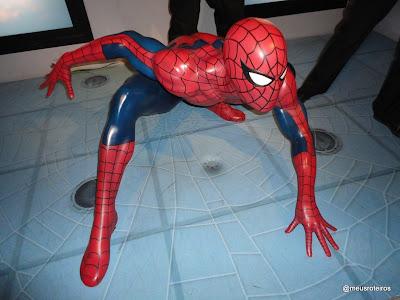 Homem-aranha de cera - Museu Madame Tussauds, Londres