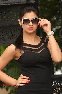 Actress Kamna Ranwat  Pictures in Black Short Dress at Selfie Raja Interview  0018