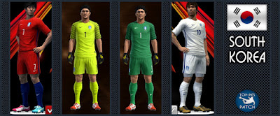 PES 2013 South Korea national football team kit 2016 by Radymir