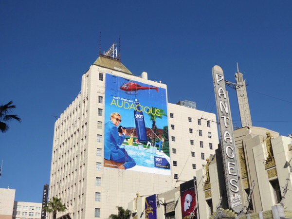 Giant Skyy Vodka Audacious billboard Hollywood
