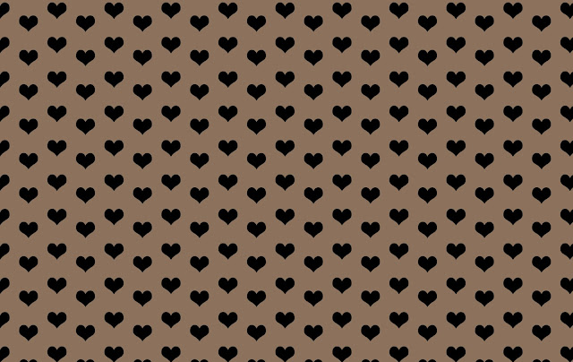 black hearts pattern with tan color background design free graphic, Kwikk