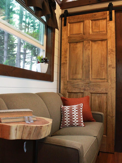 Craftsman tiny house living room by Tiny Heirloom
