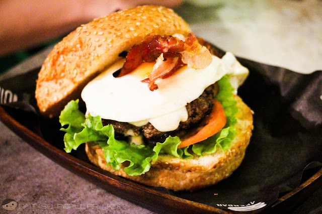 The Piggy Burger w/ Egg of Burger Bar Makati