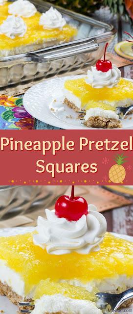 Pineapple Pretzel Squares