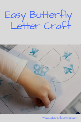 Easy Butterfly Letter Craft