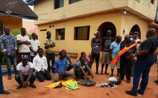 Photos: Illegal tax collectors arrested in Anambra State