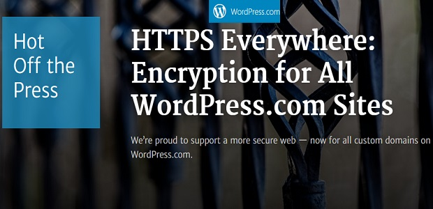 WordPress en nom de domaine propre passeront au HTTPS
