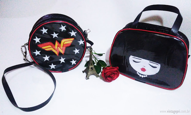 #Recebidos: Bolsas Retrô/Geek by Talita Pursey