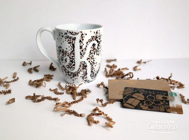 DIY Monogram Mug with Smooch Accent Ink by Dana Tatar for Clearsnap