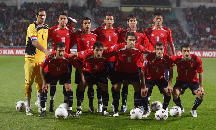 Formación de Chile ante Eslovaquia, amistoso disputado el 17 de noviembre de 2009