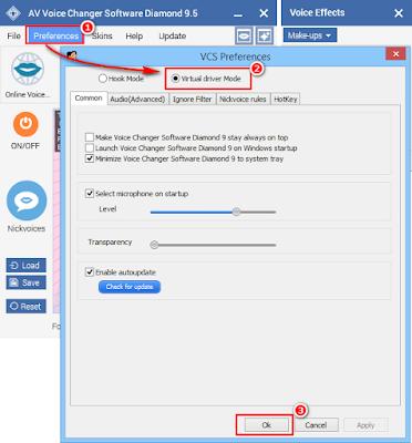 Prepare AV Voice Changer Software Diamond
