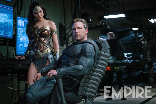 Wonder Woman Batman batcave Justice League movie