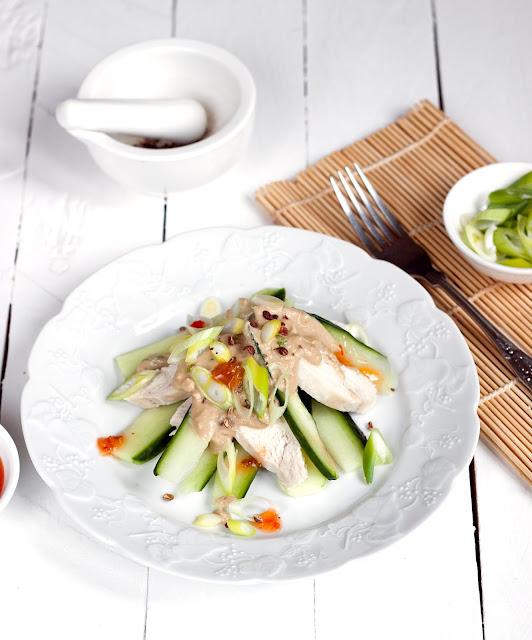 tajska sałatka z kurczaka
