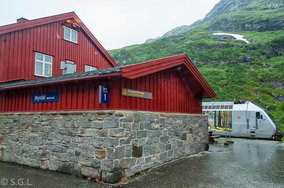 Estacion de Myrdal. Tren de Oslo a Bergen