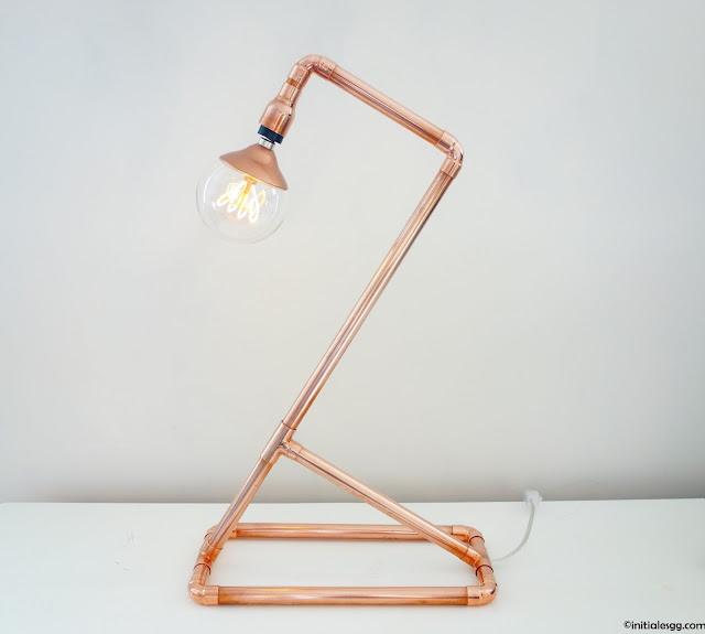 diy une lampe en cuivre so design initiales gg. Black Bedroom Furniture Sets. Home Design Ideas