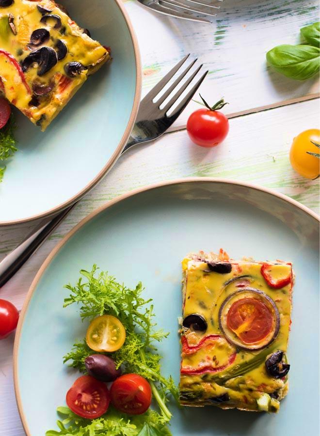 Frittata mit buntem Gemüse