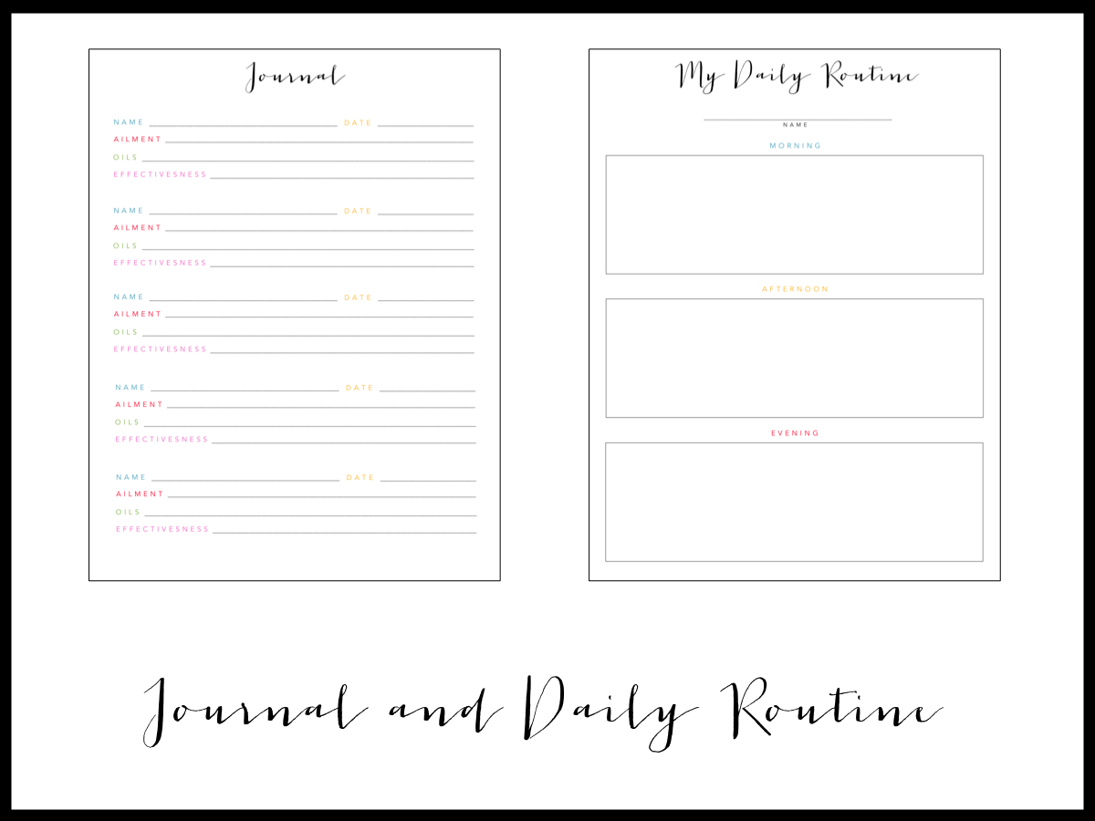 Mrs  Prince and Co : Essential Oils Printable Notebook