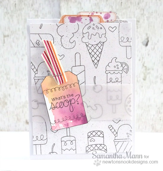 What's The Scoop? Ice Cream card by Samantha Mann | Inky Paws Challenge | Tag Sampler and Summer Scoops Stamp sets by Newton's Nook Designs #newtonsnook