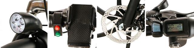Detalles de los accesorios de la bicicleta Samebike