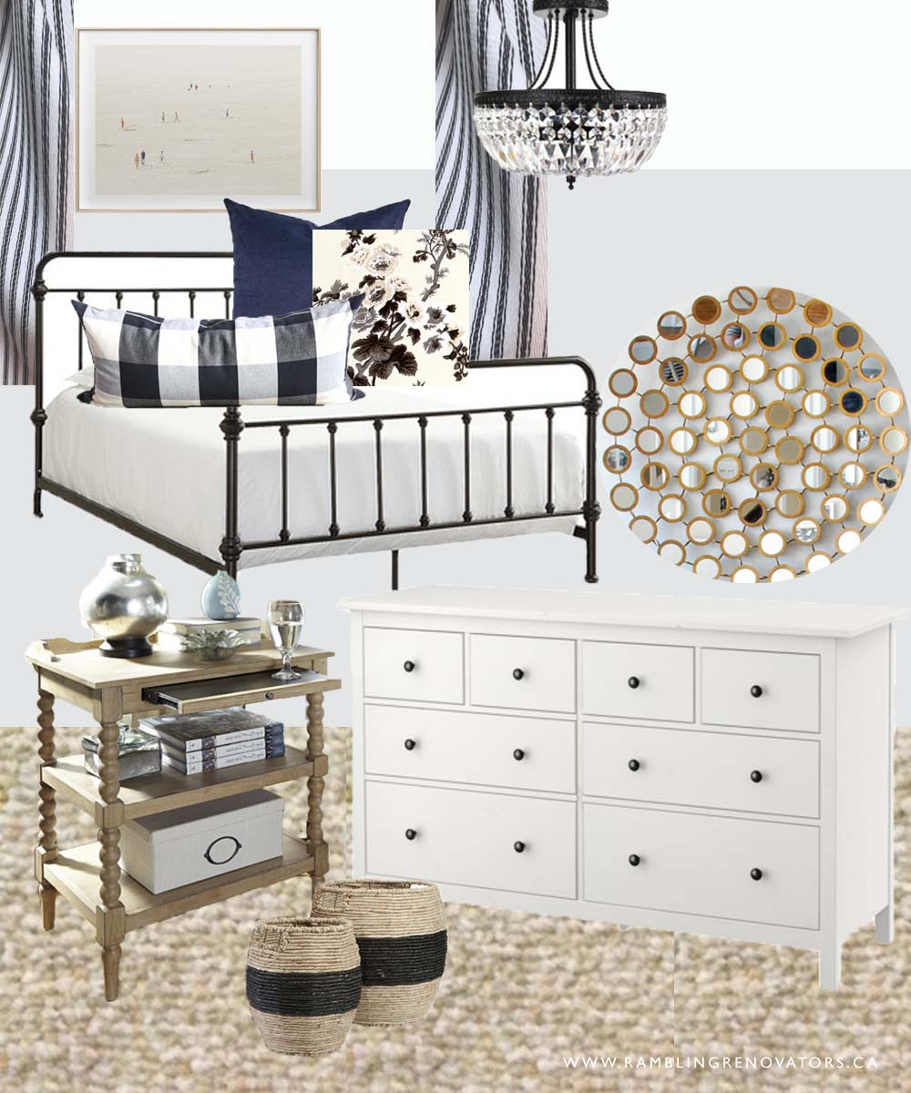 Guest Bedroom White And Gray: A Black And White Guest Bedroom Plan