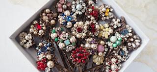 rhinestone hair jewelry, hair accessories, pretty hair pins