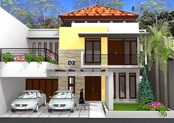 Desain Rumah Modern Dua Lantai 2020