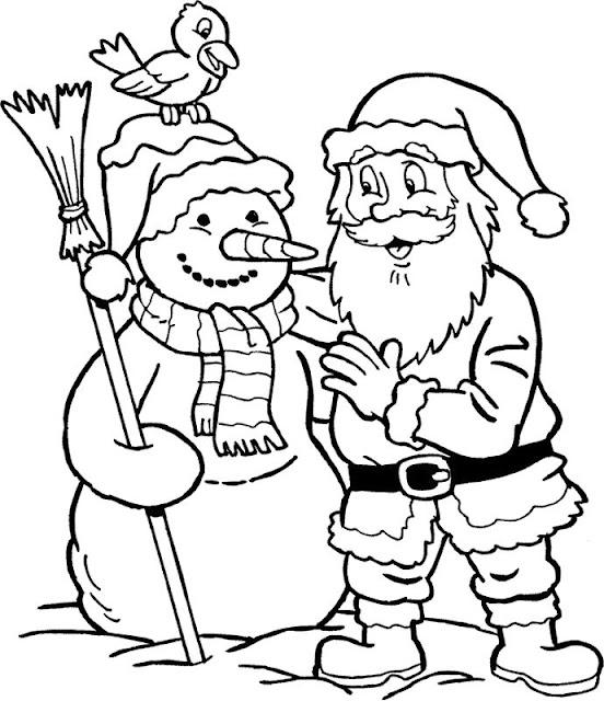 iarna-desene in creion-om de zapada-mos craciun