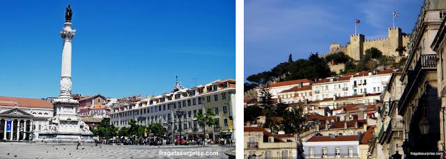 Lisboa: Praça do Rossio e Castelo de São Jorge