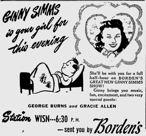 OTR Advertisements: Ginny Simms (Borden's)