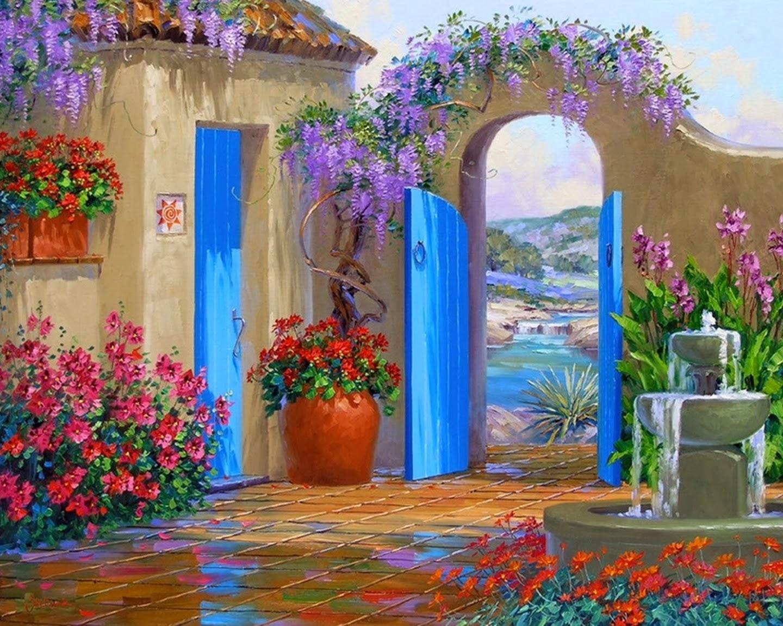 Cuadros modernos pinturas y dibujos pintura de flores al - Los cuadros mas bonitos ...