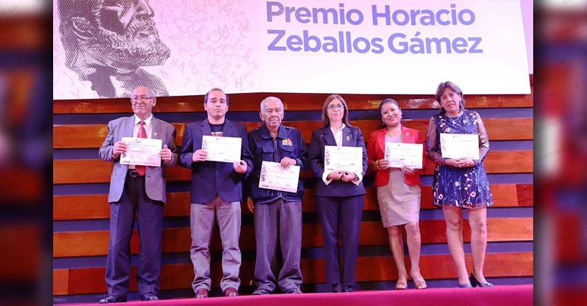 Amplían plazo de postulación para el premio nacional Horacio Zeballos 2019, organizado por la Derrama Magisterial