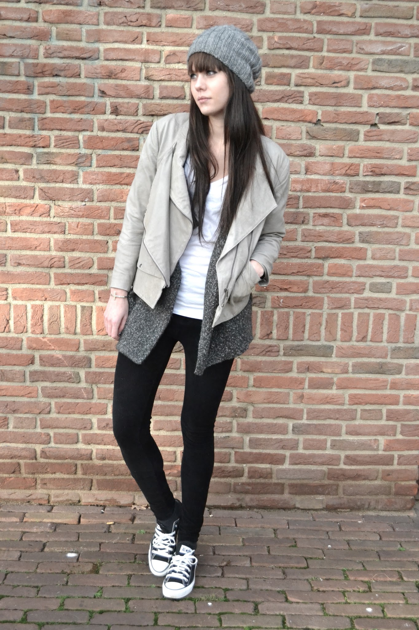 Outfit | Cream leather jacket « Lovely by Lucy