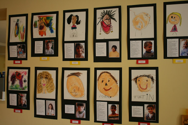 Preschool Self Portrait Art