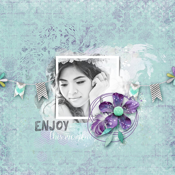 How to create a simple digital scrapbooking layout without too much time
