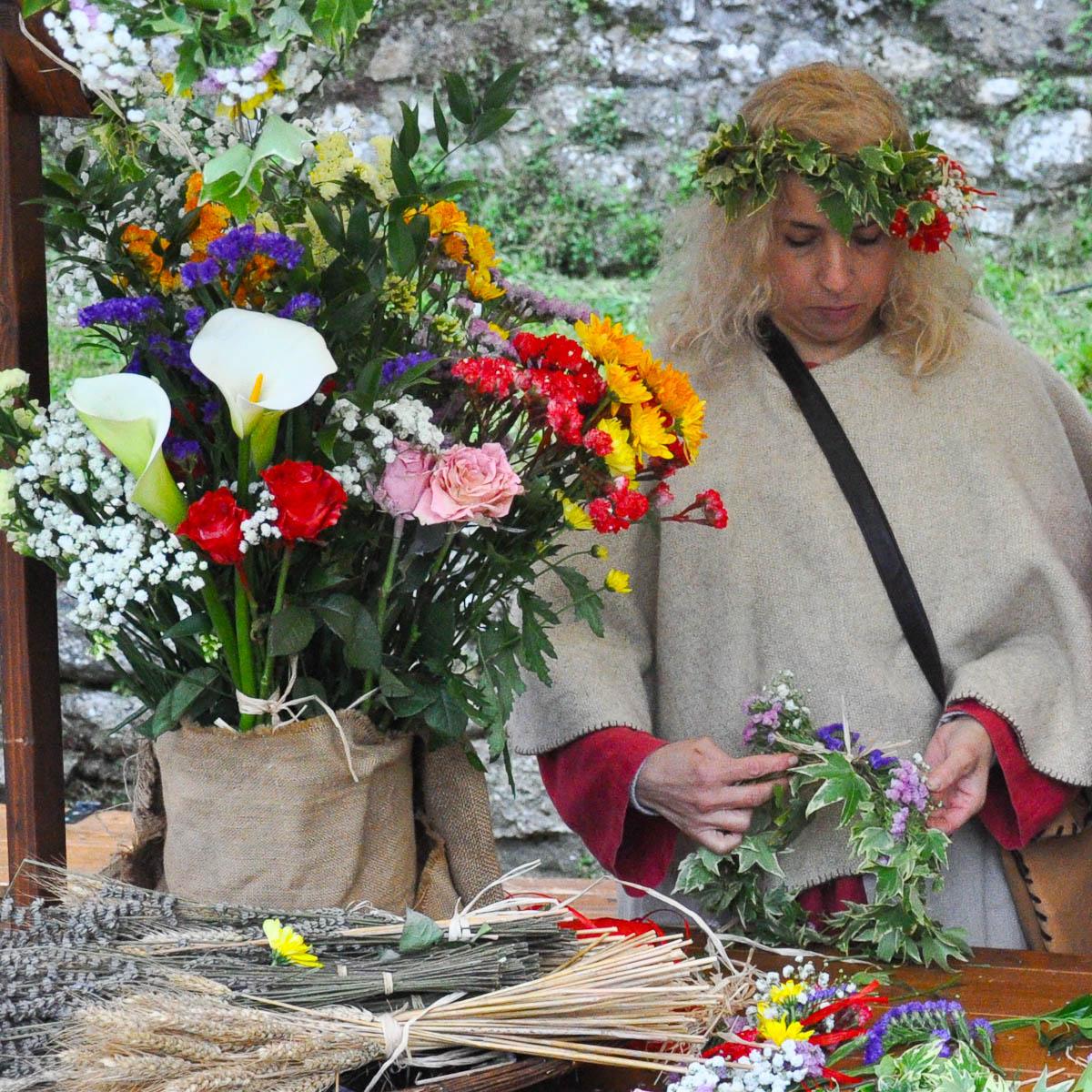 Flower Stall, Romeo and Juliet Festival - Faida, Montecchio Maggiore, Veneto, Italy