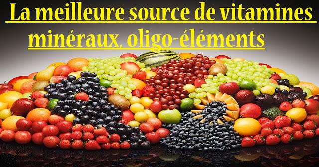 La meilleure source de vitamines, minéraux, oligo-éléments