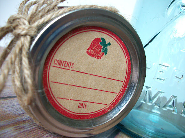strawberry canning jar label