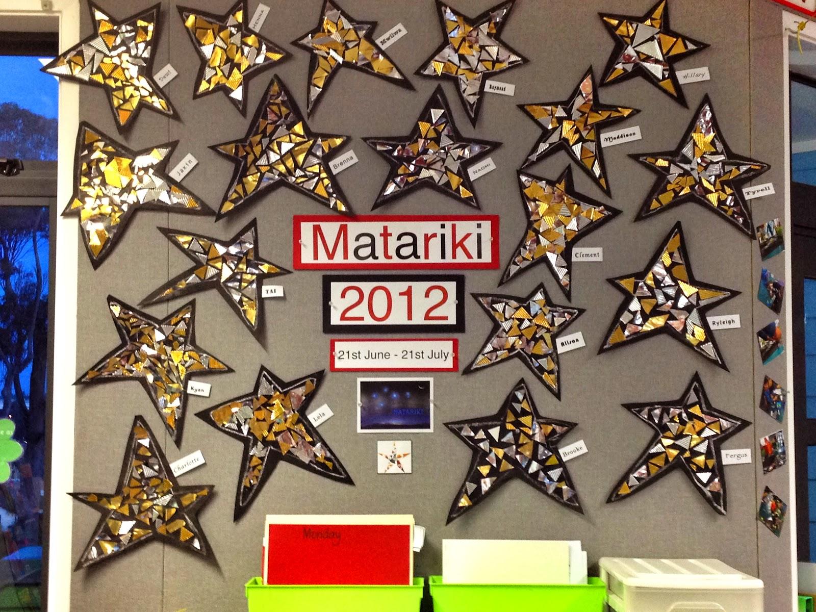 Room 8 Pinehill School Matariki Art Work