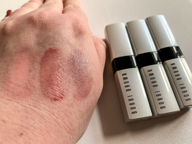 Swatches of Bobbi Brown Extra Lip Tints