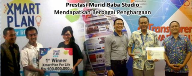 Penghargaan Alumni Baba Studio tempat kursus terbaik