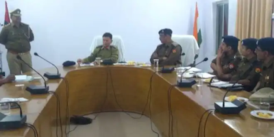 New Sp Meets With Police Officers Basti Uttar Pradesh